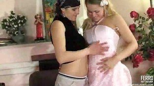 Sexy bride seduced by lesbian photographer