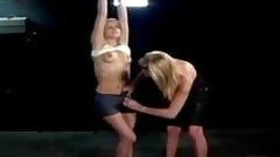 Submissive Blonde Earns an Orgasm