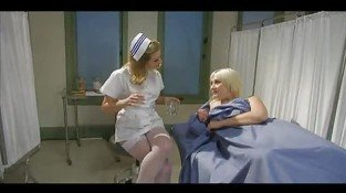 Kinky Nurse Madeline in a strap-on ass play! - Lesbian sex video
