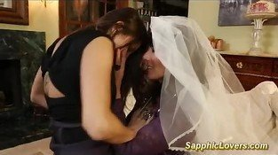 Bride is having lesbian sex