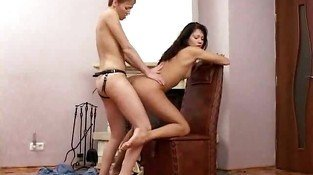 Crecy and Melissa strapon sex