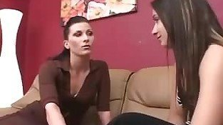 Lesbian boss eats out her intern