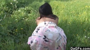 Girlfriend Showing Skin At The Park - Erotic sex video