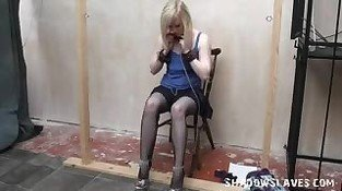 Satine Spark in public lesbian bondage and voyeur humiliated