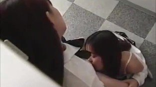 2 Schoolgirls Kissing Passionately One Of Them Licked And Fingered In The Locker Room