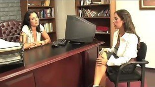 Lesbian Office Babes Capri Cavalli and Zoe Holloway