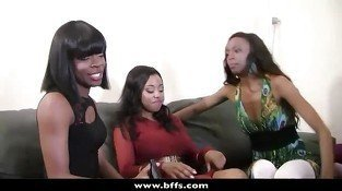 BFFs - Interracial Groupsex with ebony teens in Vegas