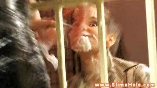 Facial loving bukkake babes get creamed on